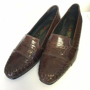 Crown Bare Traps Leather Pump Loafers Shoes Size 8C